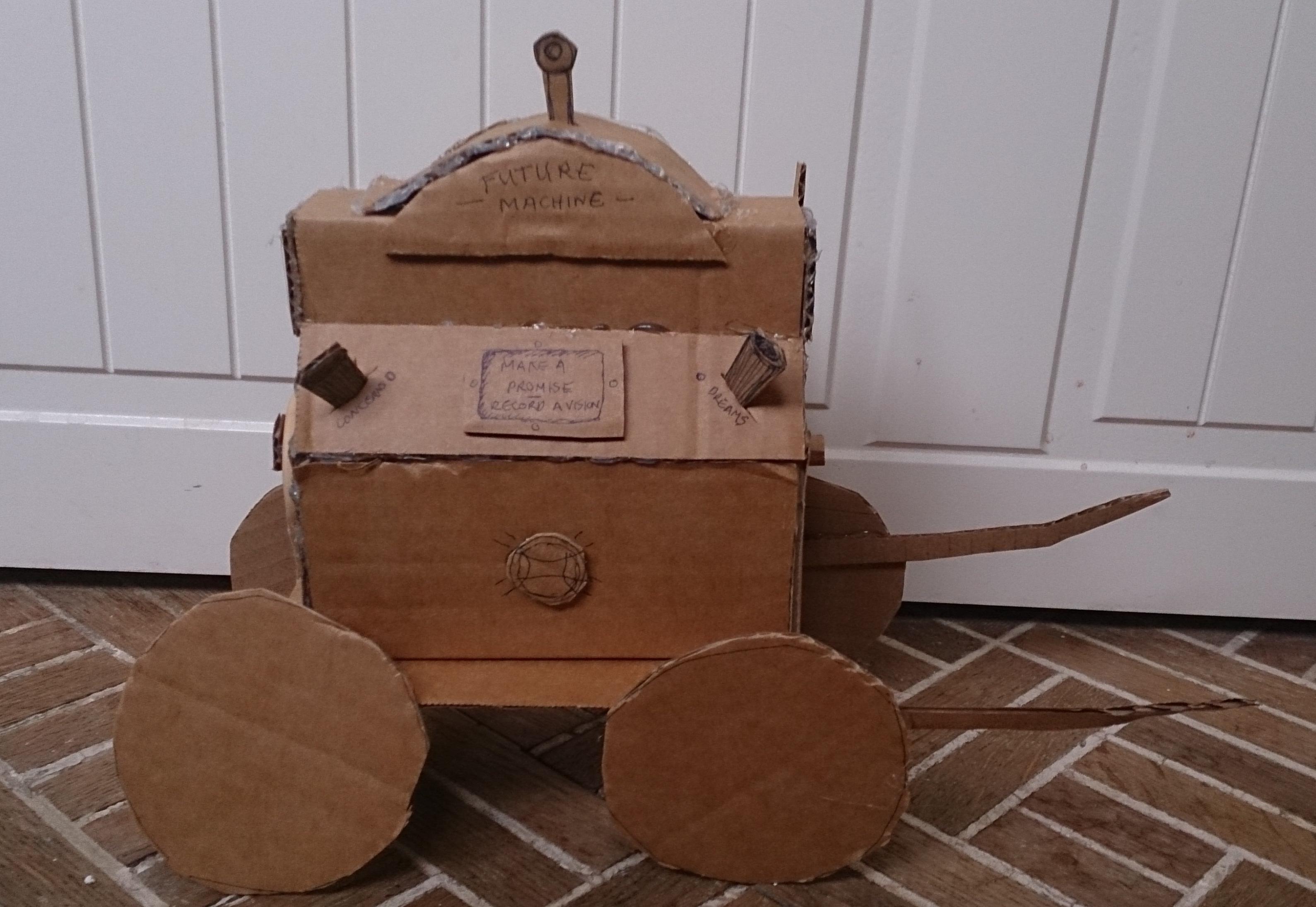 Cardboard mock up of the Future Machine