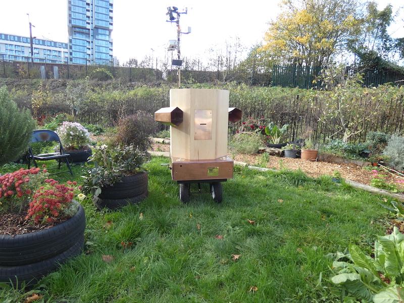 Future Machine in the garden of the drumming school in Finsbury Park