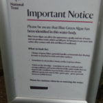 Important Notice from the National Trust - Please be aware that blue green algae has been identified in this water body